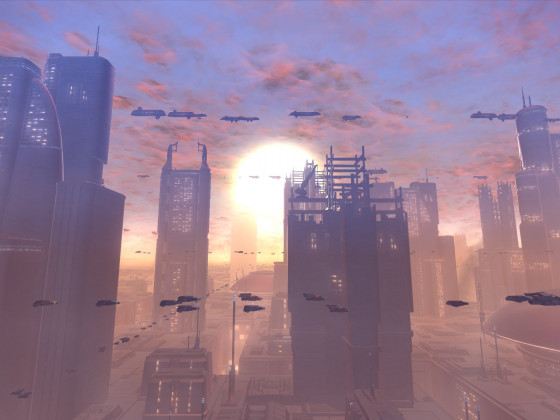 SWTOR - Coruscant Sunset